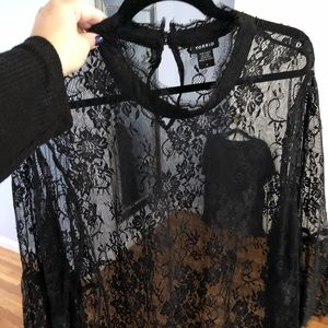 Torrid lace turtleneck